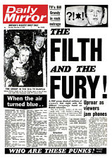 POSTER SEX PISTOLS-Daily Mirror-The Filth and the Fury ca60x85cm NUOVO 15331