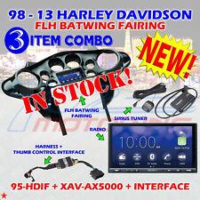 METRA 95-HDIF 98 - 13 HARLEY DAVIDSON FLH BATWING FAIRING + XAV-AX5000 + SXV300V