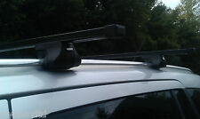 BLACK STEEL ROOF RACK BARS CLOSED SOLID RAILS FOR ZAFIRA B 5 DOOR 2005 TO 2011