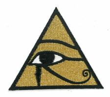 GOLDEN EYE OF HORUS iron on/sew on Embroidered Patch Applique DIY (US Seller)