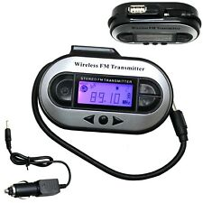Wireless FM Transmitter Stereo for 3.5mm Jack Plug iPod iPhone Mp3 & More