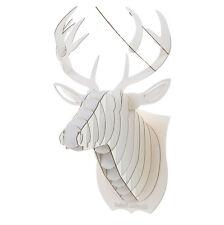 Decoration murale Kit Trophee de chasse Puzzle 3D carton Tete de cerf Large