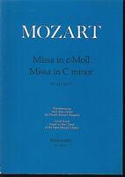"""Mozart - """" MISSA in c-Moll """" KV 427 ~ Klavierauszug mit Text ~ Urtext"""
