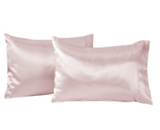 "Room Essentials Satin Pillowcases Standard 20"" x 30"" **2 Pack** Light Pink"