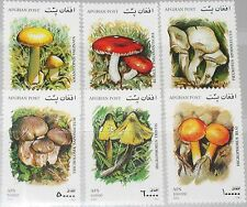 AFGHANISTAN 2001 1951-56 Pilze Mushrooms Fungus Flora Champignons MNH