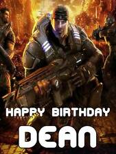 Personalised Gears of War Game Army Birthday Greeting Card with Envelope 211