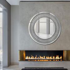 VENETIAN Large Silver Wall Round Circular Living Bathroom Hallway Bedroom Mirror