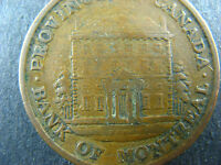 PC-1A3 Halfpenny 1842 token Double porch Province of Canada Montreal Breton 527