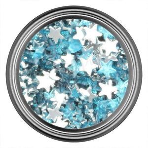 Light Blue Star Rhinestone Gems Flat Back Face Art Nail Art Jewels Decoration