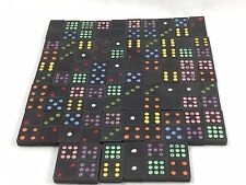 Vintage Wood Dominoes Dragon Colored 56 Pieces 21070
