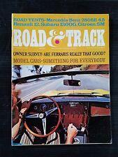 Road & Track Nov 1971 Mercedes-Benz 280SEL  Subaru 1300  Renault 12TL Model Cars