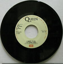 "QUEEN Lo Quiero Todo 1989 MEXICO 7"" PROMO 45 I Want It All FREDDIE MERCURY Minty"
