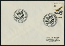 Romania 3817 on cover - Birds, Butterfly cancel