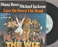 """Michael Jackson Diana Ross ease On down The Road 7"""" 45 Tours SP France The Wiz"""