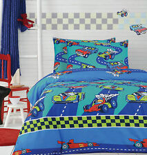 Ardor Home For Kids Racing Cars Printed Single Bed Quilt Cover Set New