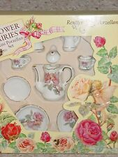 MINT REUTTER FLOWER FAIRIES MINI PORCELAIN CHILD'S TEA SET FAIRY & ROSES GERMANY