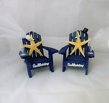 Wedding Reception Real Starfish Adirondack Beach Sunsets Chairs Cake Topper