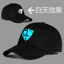 V for Vendetta Cotton Baseball Black Snapback Adjustable Hat Men Women
