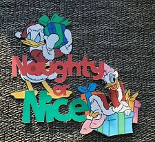 Disney page title Naughty or Nice Daisy & Donald printed scrapbook page die cut