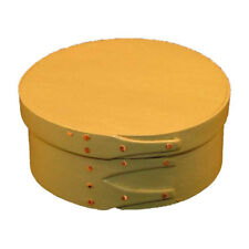 Size #1 Shaker Round Box in Sage Green Milk Paint, Lacquer Finish