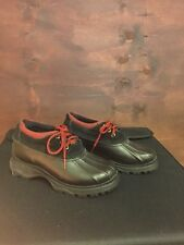 Bass Anchorage Duck Boots-black And Red Size 8