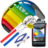 HQ 1.3M Symphony Beach III Trainer Stunt Kite w/Straps Foil Kiteboarding Rainbow