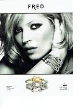Publicité Advertising 068  2014    Fred  joaillier & Kate Moss  force 10