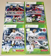 4 XBOX 360 SPIELE SET PES 10 11 12 13 - FUSSBALL FOOTBALL PRO EVOLUTION SOCCER