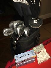 Ram Men Golf club set (12), Maxfli golf balls (5), and Golf Tees (45)