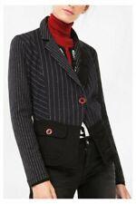 Desigual by Lacroix Black Pinstripe Short Jacket NWT size EUR44/UK-AUS14-16 OW39