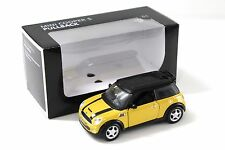 1:36 Maisto Mini Cooper S Pullback yellow DEALER NEW bei PREMIUM-MODELCARS