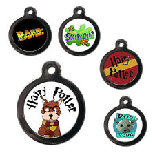 Pet Dog Cat ID Collar Tags -TV MOVIE THEMED-Engraved FREE-Pet Tags-Pet Name Tags