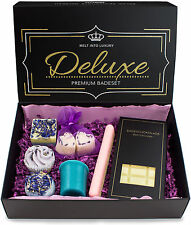 BRUBAKER Bath Melt Gift Set 'Deluxe Lavender' Vegan and Handmade (8 Pcs.)