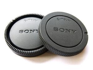 Camera Body & Rear Lens Cap for Sony NEX-3N NEX-7 E-Mount SONY Style - UK SELLER