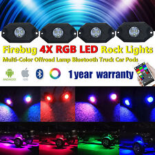 Firebug Jeep 4 Pod RGB LED Multi-Color Offroad Rock Lights Bluetooth For Truck