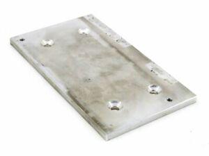 Aluminio 6mm Montage-Platte 4x 5mm Loch-ø 2x M4 Rosca Trag-Verbinder 140x80mm