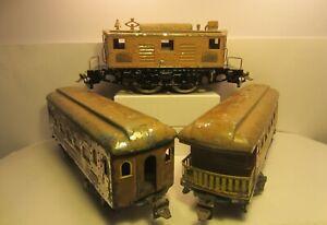 Ives 3236 Electric Locomotive + 185 & 186 Passenger Cars Set Wide Standard Gauge
