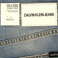 Calvin Klein Straight Leg Mens Jeans CABANA BLUE New SIZE 32 X 30 MSRP $89.50