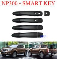 MATTE BLACK 4 DOOR SMART KEY HANDLE COVER FOR NISSAN NAVARA NP300 2015 - 2017 16