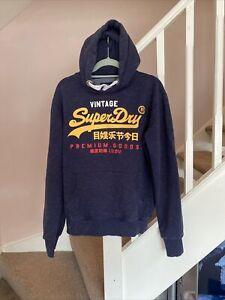 Superdry Hooded Jumper Hoodie Size Medium VGC Designer Casual Retro Vintage