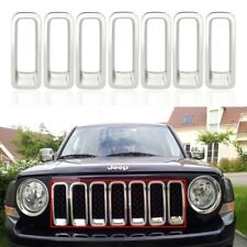 For 2011 13 14 Jeep Patriot Chrome Front Grille Grill Insert Frame Cover Trim US