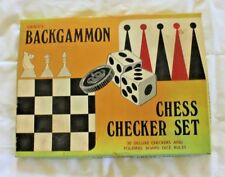 Vintage Grace Toys Backgammon Chess - Checker Set - No 7579 - With Box
