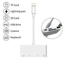 4in1 Lightning to USB Camera Memory SD Card Reader Adapter For iPhone iPad NEW