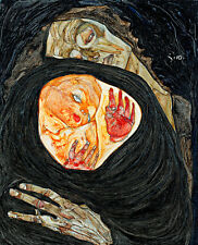 Dead Mother I by Egon Schiele A1 High Quality Art Print