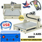 New USB 3 Axis CNC 3040 Router Engraver Engraving Wood Drill/Milling Machine