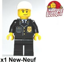 Lego - Figurine Minifig police policier officer officier casquette cty204 NEUF