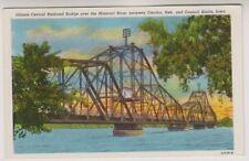 USA postcard - Illinois Central Railroad Bridge, Council Blutts, Iowa