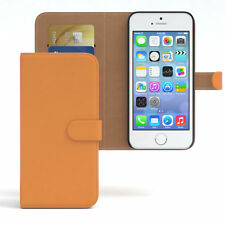 Tasche für Apple iPhone SE / 5 / 5S Case Wallet Schutz Hülle Cover Orange