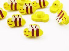 5 Knöpfe, Biene, Holzknöpfe, Kinderknöpfe, Tiere, Holz