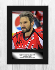 More details for alexander ovechkin a4 signed mounted photograph picture poster